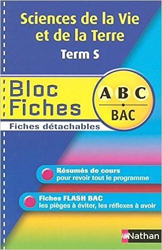 Lire en ligne BLOC FICHES ABC SVT TERM S pdf