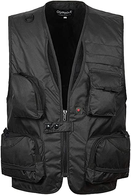 Slim Outerwear with Multi-pocket KINDOYO Mens Summer Gilet