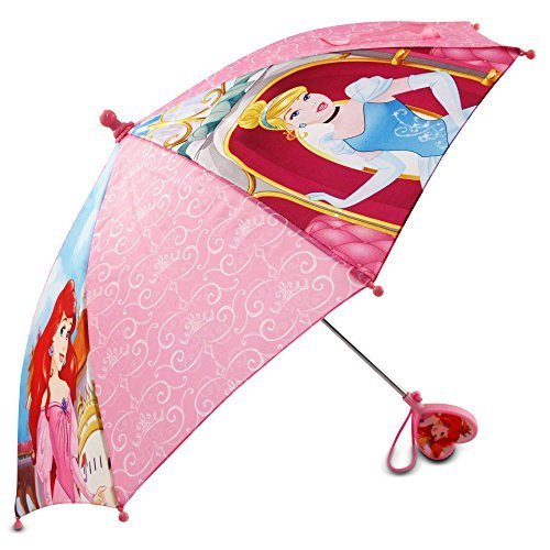 Disney Little Girls Princess Character Umbrella, Pink, One Size ()