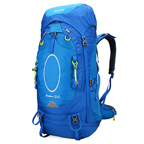 Bolang Women's Tempest 40l/55l Backpacks Outdoor Camping Travel Backpack Girls Hiking Daypacks Mountaineering Climbing Backpacking(blue 55l, Model 8354)