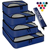 4 Set Packing Cubes,Travel Luggage Packing Organizers with Laundry Bag Navy