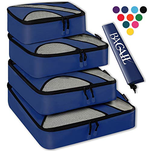 4 Set Packing Cubes,Travel Luggage Packing Organizers with Laundry Bag ()