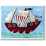 The Kids Room by Stupell Pirate Ship at Sea Rectangle Wall Plaque