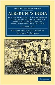 Muhammad Biruni - Alberuni's India - 2 Volume Set: 1-2