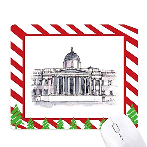 National Gallery in London Mouse Pad Candy Cane Rubber Pad Christmas Mat