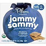 Plum Organics Jammy Sammy, Organic Kids Snack Bar, Blueberry & Oatmeal, 5.1 Ounce, 5 Bars