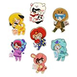 Youyouchard BTS Pins KPOP BTS Bangtan Boys Brooch Pin Badge Accessories For Clothes Hat Backpack Decoration (H19: 7PCS)