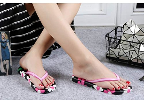 Travel Outdoor Proof Women Household Printed Womens Sandals Casual Slippers Flowers Flops Summer for Flip jidachuang Red Rose Skid Beach qwAfSa1PW