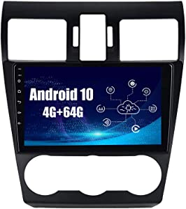 SYGAV Android 10 Car Radio Stereo for Subaru Forester WRX Impreza with Carplay GPS Navigation HD 1280x720 Touch Screen Head Unit
