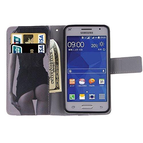 Funda Iphone, Plum patrón horizontal Flip caja de cuero con el titular y ranuras para tarjetas y cartera para Samsung Galaxy Core II / G355H ( SKU : S-SCS-3687G ) S-SCS-3687C