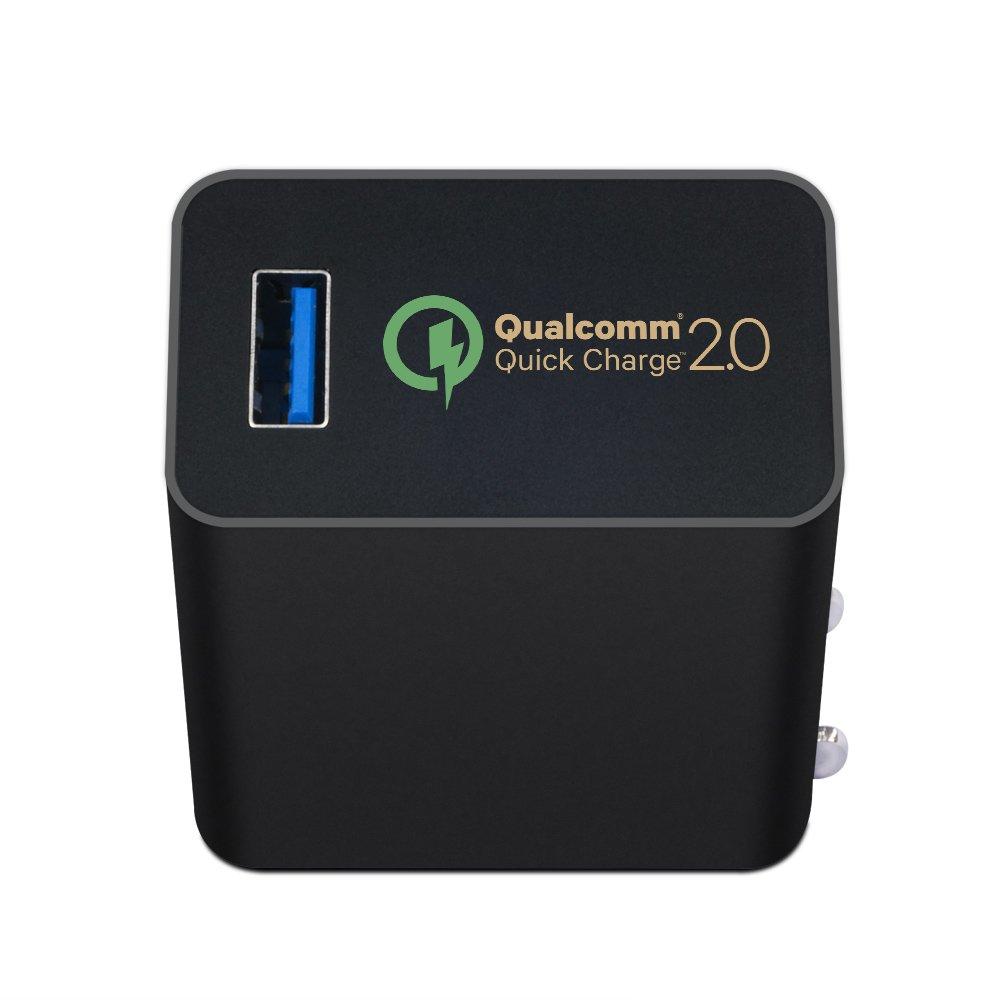 KFD Quick Charge 2.0 USB Turbo Charger 5V/2A 9V/2A 12V/1.5A Adaptador Cargador con el cable micro USB para Google Nexus 6, Samsung Galaxy S6,S6 Edge, ...