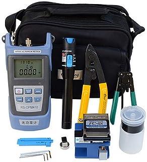 Kit d'outils FTTH en fibre optique avec connecteurs en fibre optique comprenant un testeur de câble optique, un localisateur de défaut visuel, un compteur de puissance optique portable