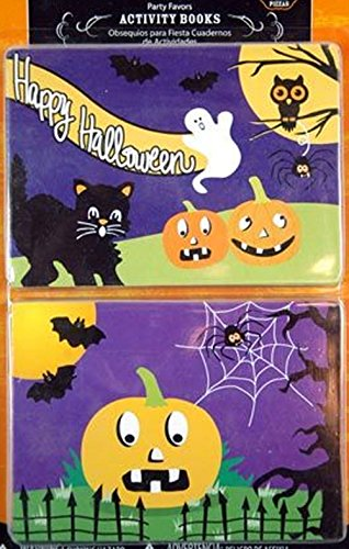 Happy Halloween Trick or Treat Inspired Kids Activity Book Favors! 20 Ct Pk! Perfect Giveaway or Party (Halloween Mini Books)