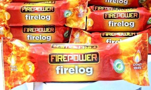 Firepower Instant Light Smokeless Fire Logs Case of 15 Logs Burns for Around 2 Hours (15) Home Essentials Inc