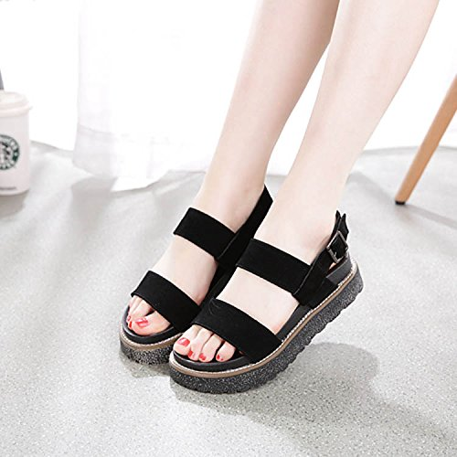 HBDLH-Damenschuhe Dicke Boden Hintern Biskuitteig Schuhe Sommer Flache Boden Dicke Weichen Boden Sandalen Wilde Frauen Schuhe 6c3980