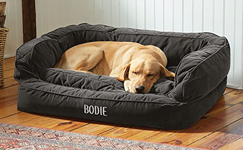 Orvis Comfortfill Couch Dog Bed / Large Dogs 60-90 Lbs., Slate, by Orvis
