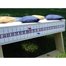 Cornhole Tailgate Game Bag Toss Magnetic Scoreboard Blue on White