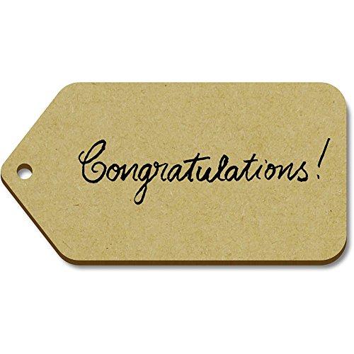 (Azeeda 10 x Large 'Congratulations' Wooden Gift Tags)