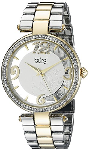 Gold Tone Floating Crystal Watch - 8