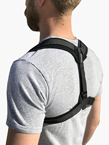 Posture Corrector - Back Brace & Support for Women Men & Tenagers - Forget about your Slouching - Back Pain Relief by ORTHOMEL