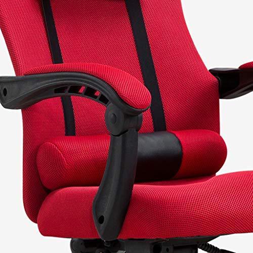 Kontorsstol, svängbara skrivbordsstolar hög rygg datoruppgift stolar med justerbart ryggstöd, nackstöd, armstöd och sitthöjd för konferensrum