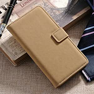 Soft Feel Leather With Stand Wallet Case For Samsung Galaxy S5 I9600 Phone Bag With Card Holder Muti Colors Beige-beige