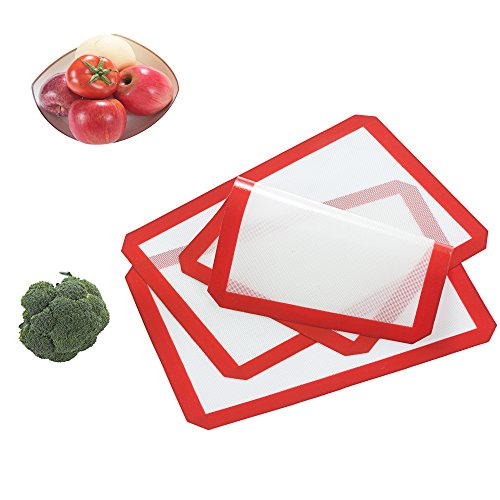 Lifeeasy Premium Silicone Baking Mat,Non Stick,Heat Resistant,Healthy Coking,Pack of 3