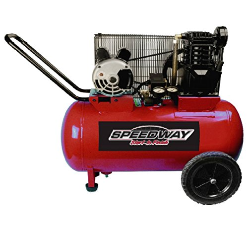 Speedway 53200 2 hp Electric 2 Cycle Cast Iron Belt Drive Compressor, 20 gallon