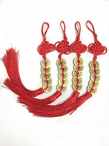 TtoyouU Chinese Feng Shui 5 Lucky Coins Hanger MainImage