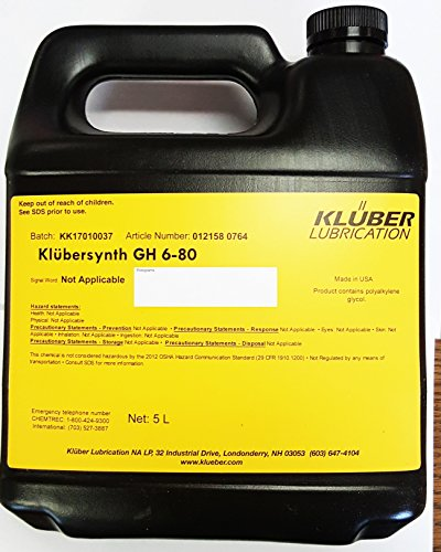 Klubersynth GH6-80 Bottle Synthetic High Temperature Gear Oil 5 Liter Containerr