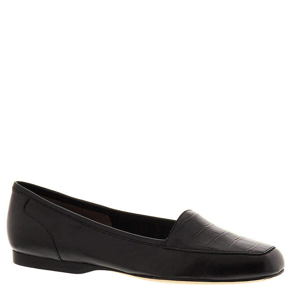 ARRAY Womens Freedom Leather Square Toe Loafers Black-Crocodile Size 9.5