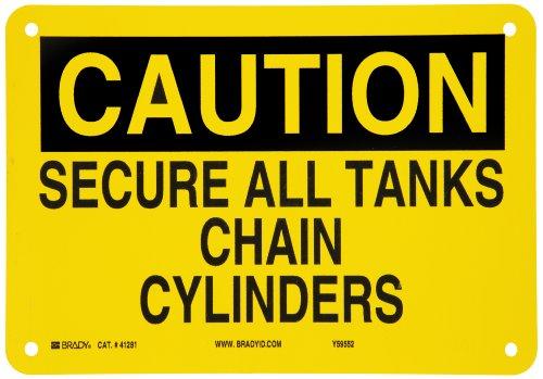 Brady 41281 Aluminum Chemical & Hazardous Materials Sign, 7