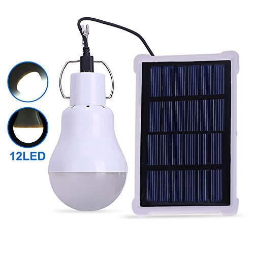 EleLight Solar Bulb Lights Outdoor, Chicken Coops Light, 140LM Solar Powered LED Lighting Bulbs with 3.5M Solar Panel for Outdoor Camping Tent Fishing Hiking Home Yard Emergency