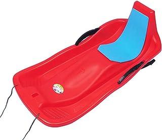Wgwioo Screamer de Neige de Slider de traîneau de Traction d'hiver, Luge de Luge de Neige de Sport en Plein air d'enfants Adultes avec la Corde de Seat