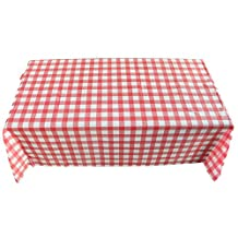 Olibay Disposable Plastic Table Covers Tablecloths for Outdoor Picnic Party