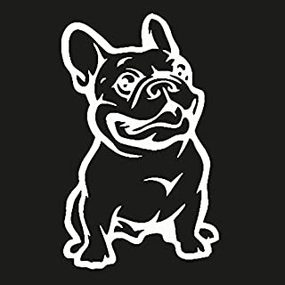 product image for Keen French Bulldog Vinyl Decal Sticker|Cars Trucks Vans Walls Laptop|White|5.5 in|KCD520