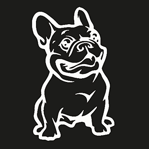 Keen French Bulldog Vinyl Decal Sticker|Cars Trucks Vans Walls Laptop|White|5.5 - Bulldog Decal Vinyl