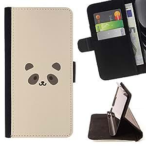 Momo Phone Case / Flip Funda de Cuero Case Cover - Cute Panda Face - LG G4