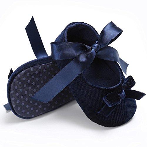 BZLine® Baby Komfort Blume weiche Prewalker weiche Sohle Anti-Rutsch Schuhe Blau