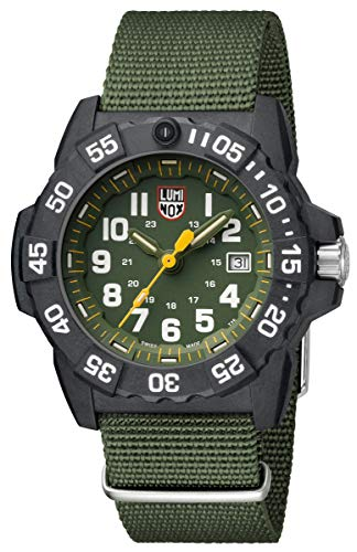 (Luminox 3517 Men's Navy Seal Trident 45mm Watch - Green Accents)