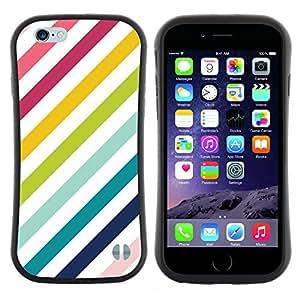 "Hypernova Slim Fit Dual Barniz Protector Caso Case Funda Para Apple (4.7 inches!!!) iPhone 6 / 6S (4.7 INCH) [Rayas Líneas diagonales Teal blanco""]"