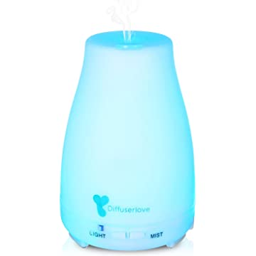 top best Diffuserlove MAX 220ML Essential Oil Diffuser Ultrasonic Aromatherapy Diffuser Mist Humidifiers with 7 Color LED Lights and Waterless Auto Shut-off for Bedroom Office House Kitchen Yoga