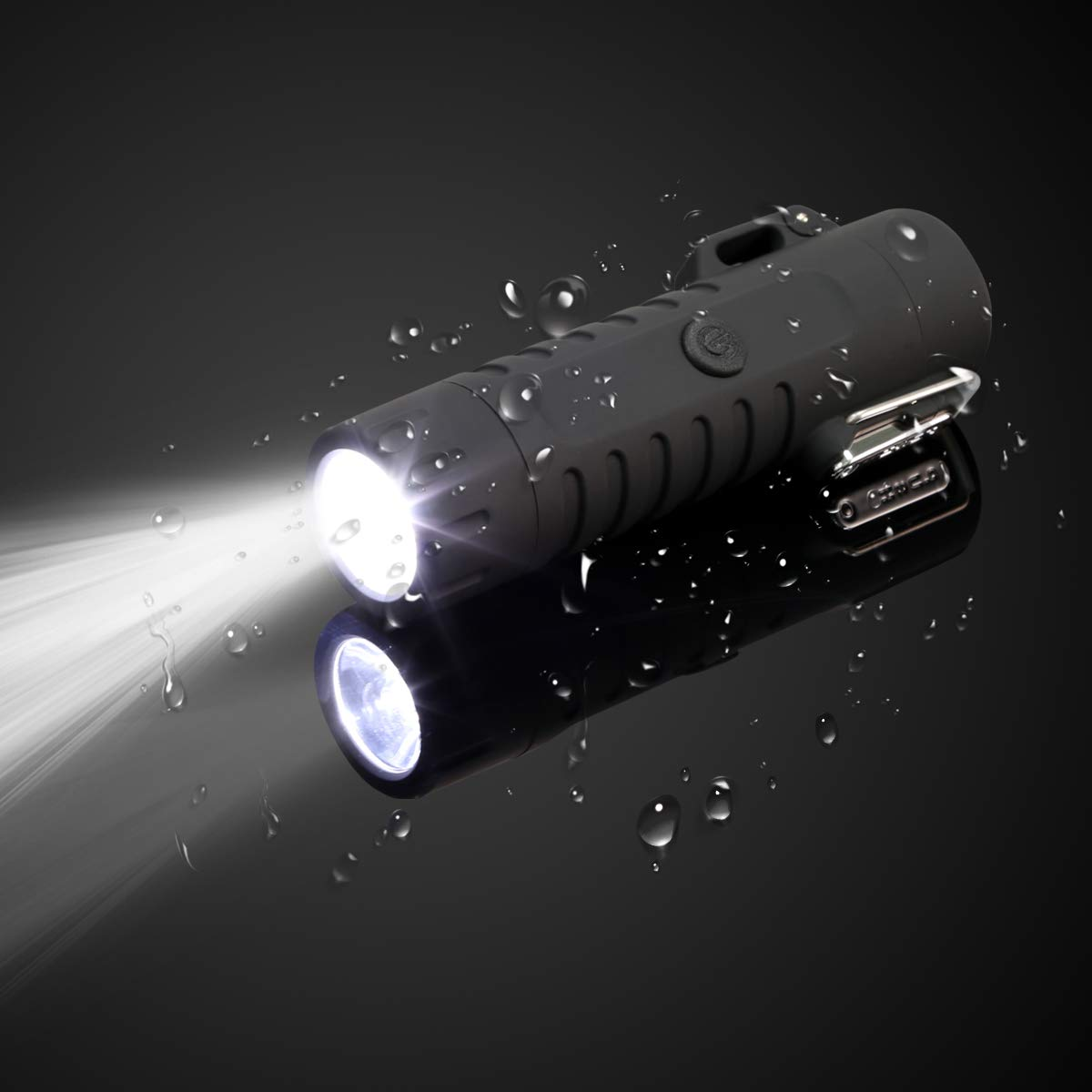 USB Encendedor Recargable con Linterna Impermeable sin Llama Plasma Encendedor para Acampada Cocina Cigarrillos Velas Qimaoo Mechero El/éctrico Encendedor Electrico Doble Arco