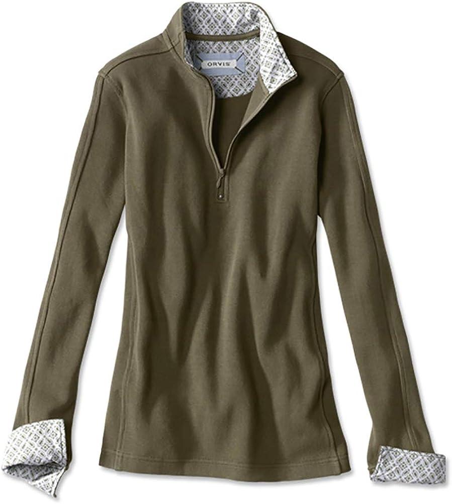 Orvis Signature Softest Print-Trimmed Quarter-Zip Sweatshirt