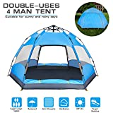 BATTOP 4-5 Person Tent [Double-Uses] Instant Pop Up Family...