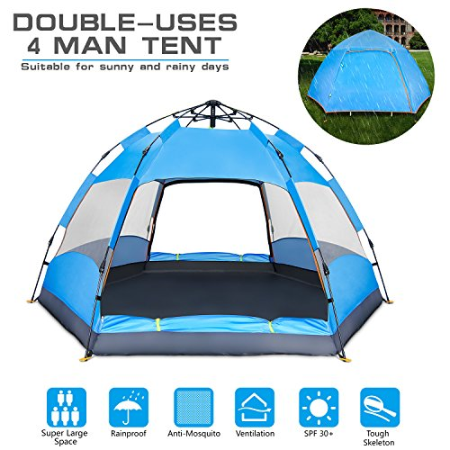 4-Person-C&ing-Tent-Easy-Set-Up-Family-  sc 1 st  Discount Tents Nova & 4 Person Camping Tent-Easy Set Up Family Outdoor Activities ...