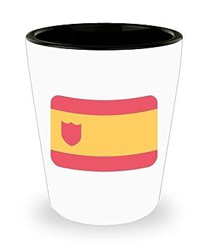 Bandera de España Emoji vasos de chupito