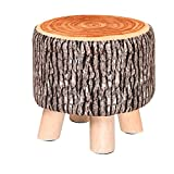 Stools Small fabric bench sofa living room coffee table wood pile natural linen high elastic sponge wood innovation four foot children gift