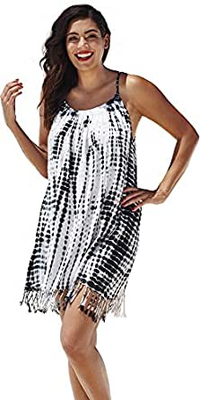 swimsuitsforall Women's Tie-Dye Boho Dress 10 Multi