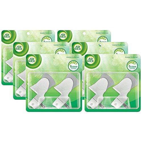 Air Wick Scented Oil Warmer Plugin Air Freshener, Pack of 6 (6 X 2ct)